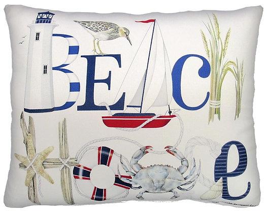Beach House Pillow, MLT201, 2 sizes