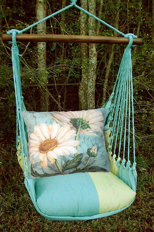 MM Swing Set w/ White Daisies Pillow, MMTC509-SP