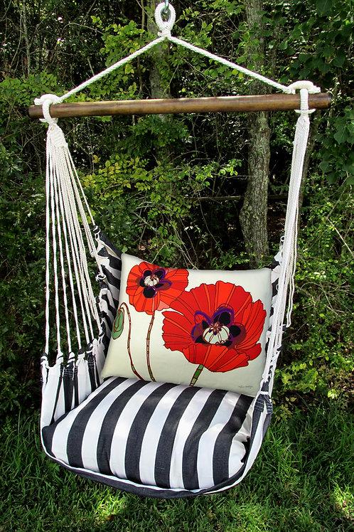 TB Swing Set w/ Poppies Pillow, TBRRPG-SP