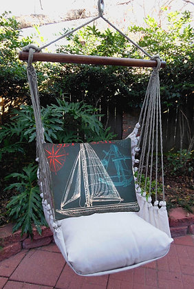 LT Swing Set w/ Sailboat Navy Pillow, LTTC503-SP