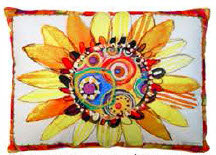 Yellow Daisy Pillow, RRSD, 2 sizes