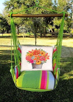 FL Swing Set w/ Flower Pot Pillow, FLTCS14-SP