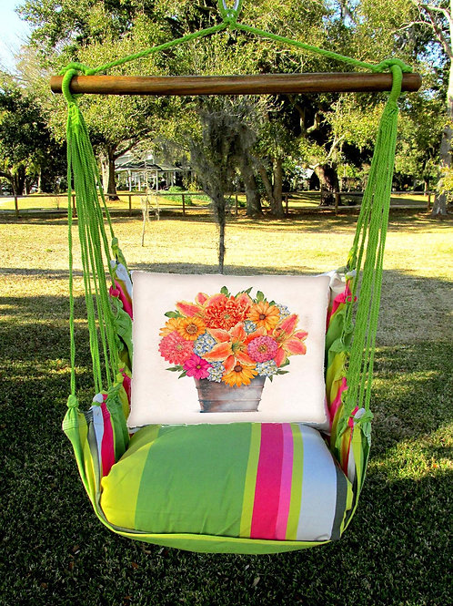 FL Swing Set w/ Flower Pot Pillow, FLTCS14-SP