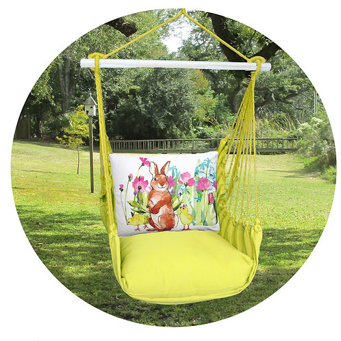 Lime Swing Set w/ Bunny & Chicks Pillow, LMRR701-SP