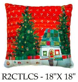 Christtmas Snow Scene, R2CTLCS, 18x18