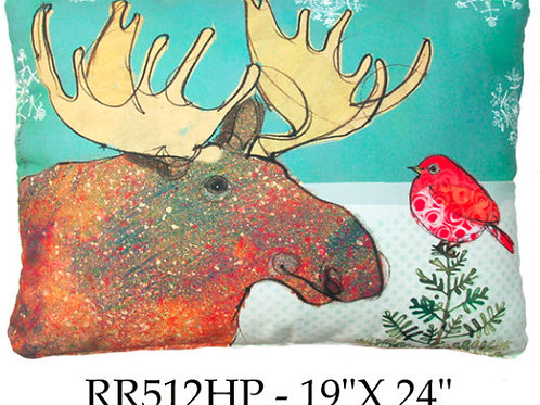 Christmas Moose, RR512HP, 19x24