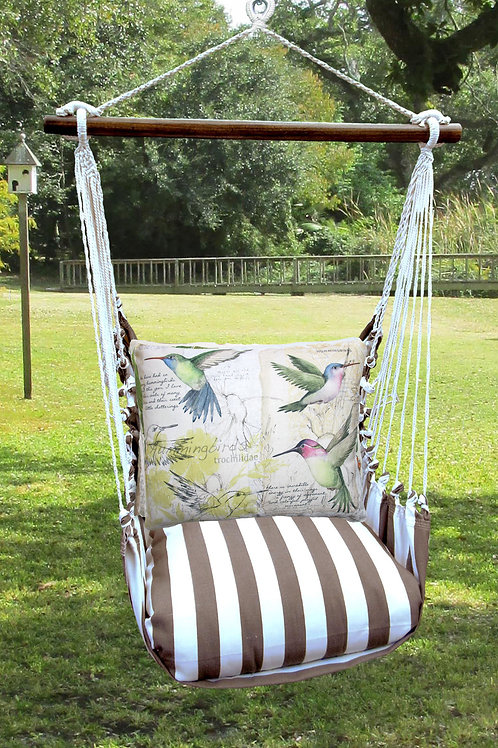 SC Swing Set w/ Hummingbirds Pillow, SCSW704-SP