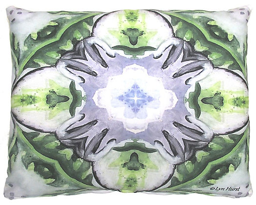 Purple and Green Abstract Pillow, LH201, 2 sizes