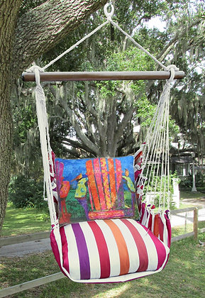 CR Swing Set w/ Adirondack Pillow, CRTC610-SP