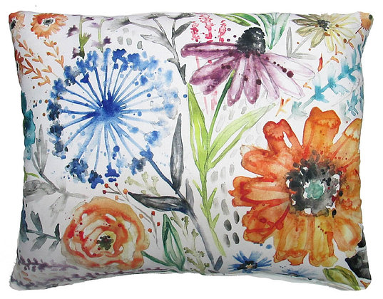 Watercolor Floral Pillow, LS203, 2 sizes