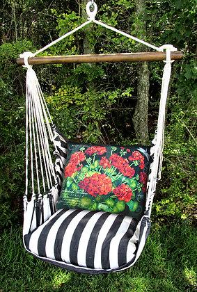 TB Swing Set w/ Geraniums Pillow, TBGERB-SP