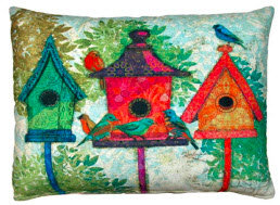 RB Pillow, Birdhouses, TC3BLCS, 18x18