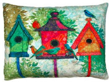 FO Pillow, Birdhouses, TC3BHP, 19x24
