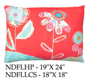 Flowers Pillow, NDFL, 2 sizes