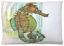 MM Pillow, Seahorse, RRSIMHP, 19x24