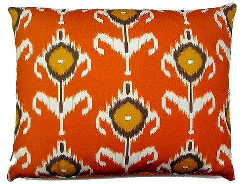 Ikat Orange, K1CHHP, 19x24