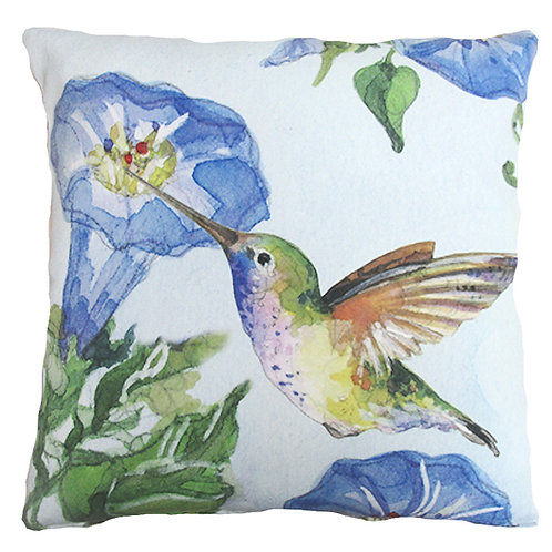 Hummingbird w/ Morning Glory, SR804LCS, 18x18 only