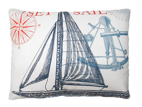 MA Pillow, Sailboat, TC504LCS, 18x18