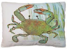 SP Pillow, Crab, RRCIMLCS, 18x18