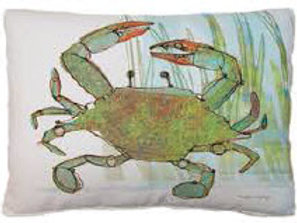 MM Pillow, Crab, RRCIMLCS, 18x18