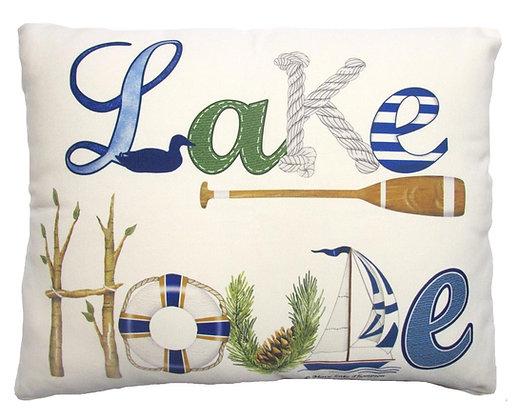 Lake House Pillow, MLT703, 2 sizes