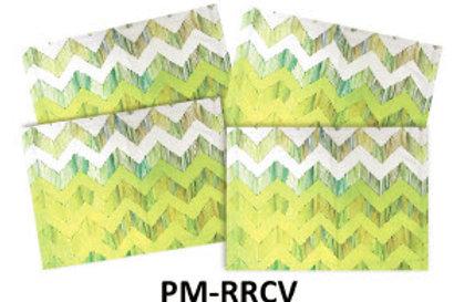 Set of 4 Place Mats, Chevron, PM-RRCV