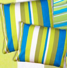 Beach Boulevard Stripe Pillow, 24x24, BB204CL