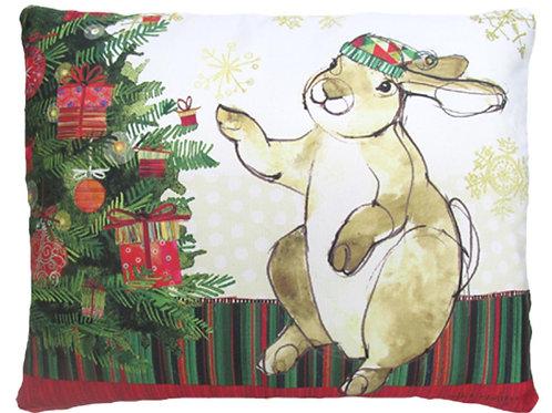 RR715HP, 19x24, Bunny w/ Christmas Tree