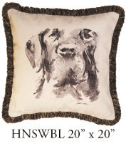 Labrador Retriever Pillow, 20x20, HNSWBL