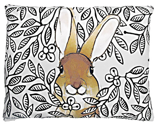 Bunny in Bushes Pillow, RR203, 2 sizes