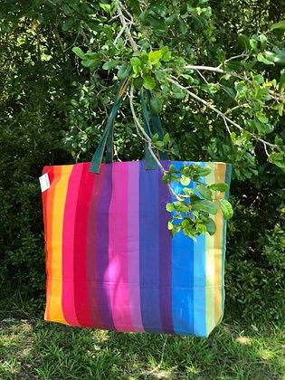 Rainbow Fabric Tote