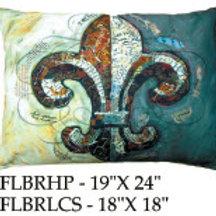 Fleur de Lis Pillow, FLBR, 2 sizes