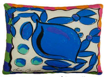 RB Pillow, Crab, CRLCS, 18x18