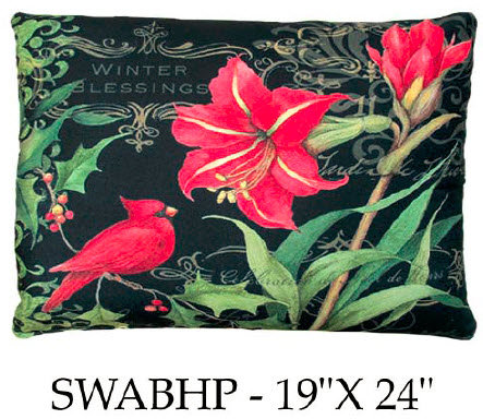 Winter Blessings Poinsettias 1, SWABHP, 19x24