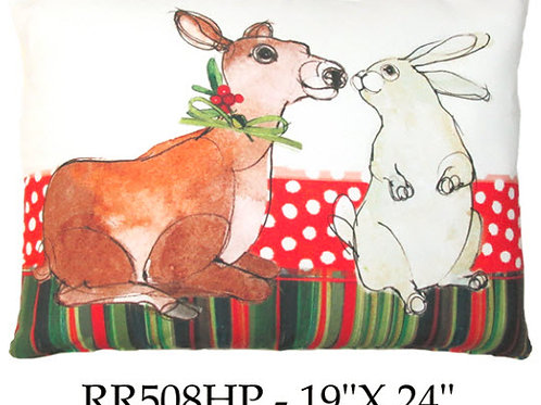 Deer and Bunny, RR508HP, 19x24