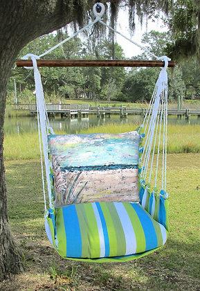 Beach Landscape 1 Pillow on Beach Boulevard Fabric, BBLS201-SP