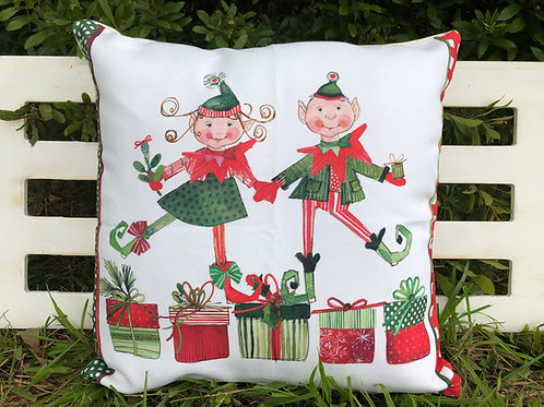 RR919LCS, Christmas Elves, 18x18 only