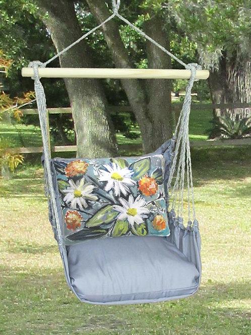 Impressionist Flowers Swing Set w/ Gray, GRLS901-SP