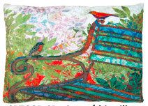 RB Pillow, Park Bench, TCGBHP, 19x24