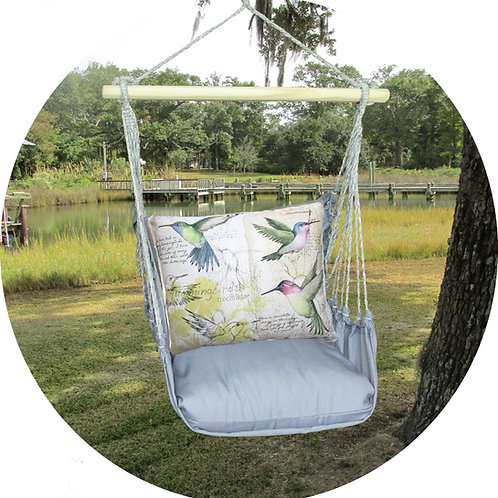 Hummingbirds Swing Set w/ Gray, GRSW704-SP