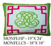 Monogram Pillow, MONFL, 2 sizes