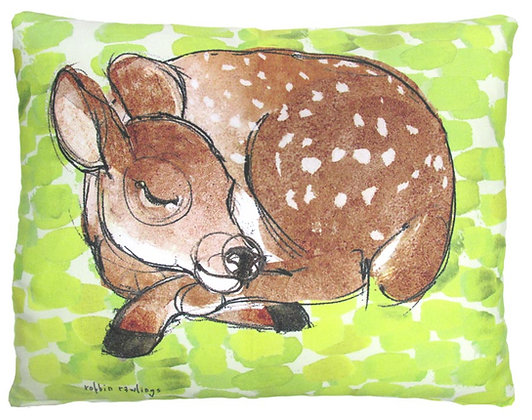 Sleeping Fawn Pillow, RR906, 2 sizes available