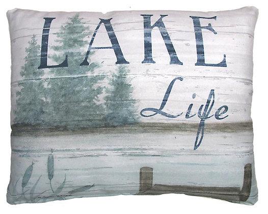 Lake Life Pier Pillow, SW202, 2 sizes