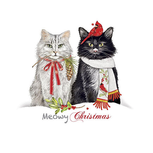 MLT912CS, Meowy Christmas, 18x18 only
