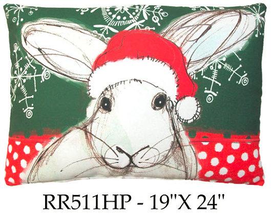 Christmas Rabbit, RR511HP, 19x24