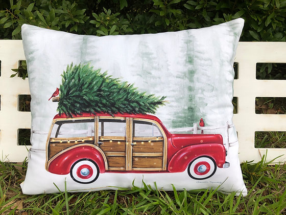 Retro Christmas Wagon, DM901HP, 19x24