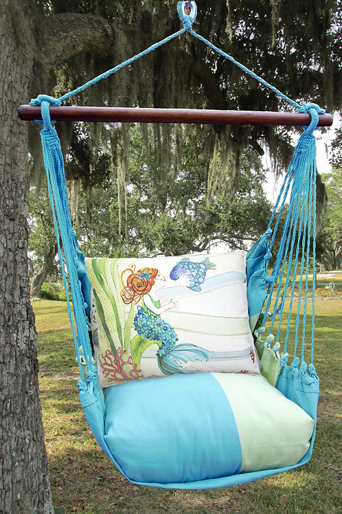 MM Swing Set w/ Mermaid Pillow, MMRR702-SP