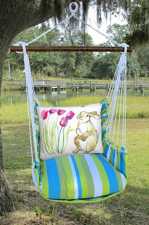 BB Swing Set w/ Bunny & Tulips,  BBRR704-SP