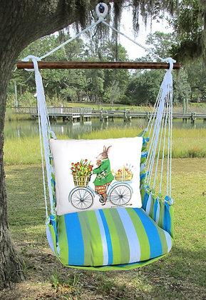 Bunny on Bicycle on Beach Boulevard Fabric, BBMLT803-SP