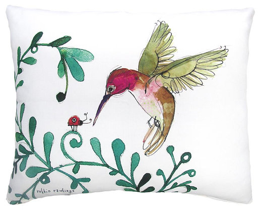 Hummingbird Pillow, RR912, 2 sizes available